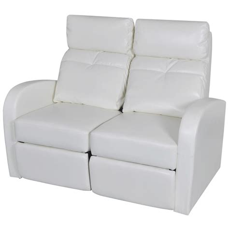 white leather reclining sofa artificial leather home cinema recliner reclining sofa 2