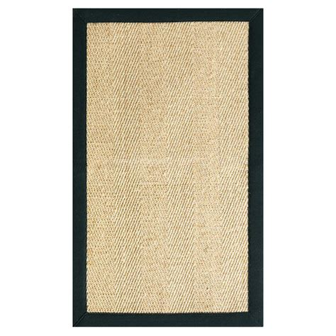 floor rugs home depot home decorators collection marblehead sisal black 5 ft x 7 ft 9 in area rug 4066830210 the