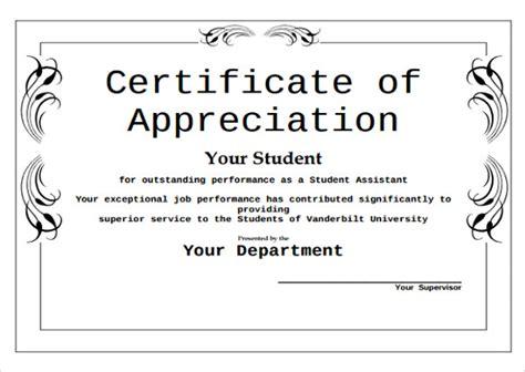 formal certificate of appreciation template 43 formal and informal editable certificate template