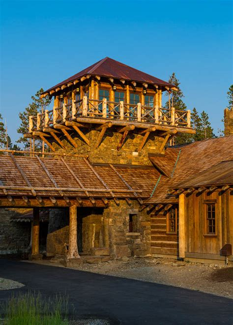 big log cabin homes log cabin framing teton heritage builders