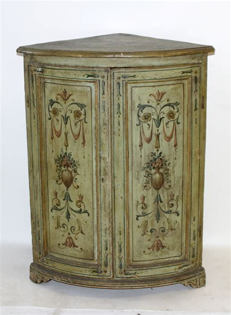 antique corner cabinet for sale pair of italian neoclassical painted corner cabinets for