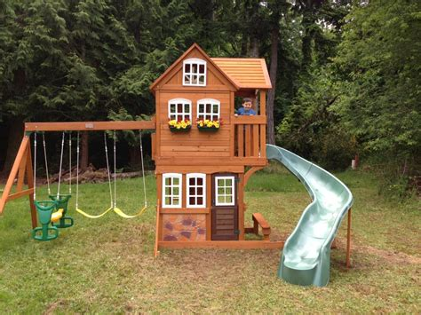 playhouse swing sets how to build playhouse plans with swing set pdf plans
