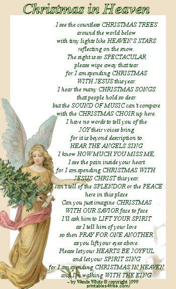 bookmark christmas  heaven  wanda white christmas  heaven christmas quotes heaven poems