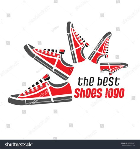 sport shoes logo dynamic sports shoes logo sneakers gray stock vector