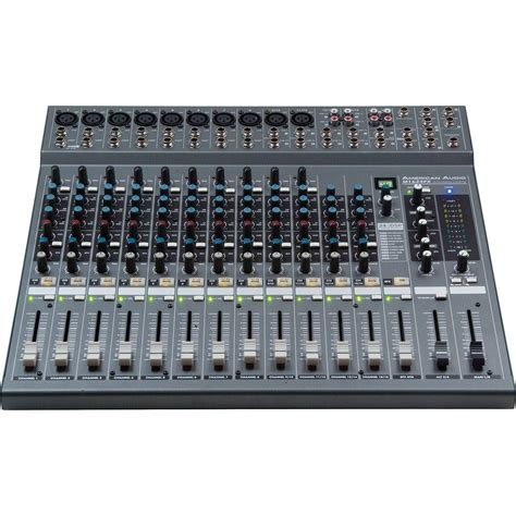 Audio Mixer American Standard american audio m1624fx 10 channel pa mixer with effects m1624fx