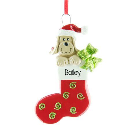 dog stocking personalised hanging christmas decoration 74