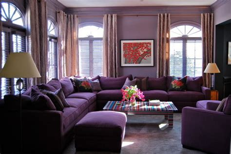 modern living room purple couch interior design useful tips to choose the right living room color schemes