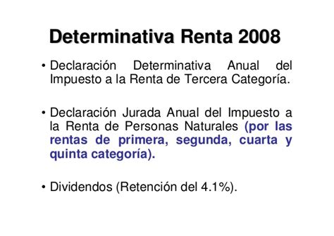 asesoria declaracion renta anual 2012 4ta categoria 12 categorizacion