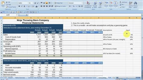 forecasted income statement template forecasting financial statements part 1 mp4