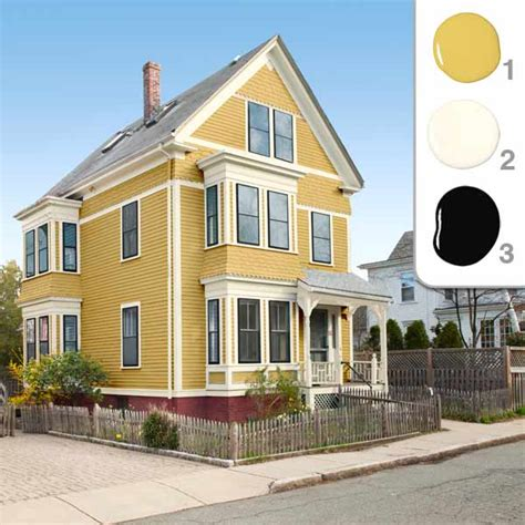 house paint schemes the winning yellow scheme picking the exterior