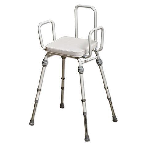 Perching Stool With Back And Arms by Compact Perching Stool With Arms And Back Perching