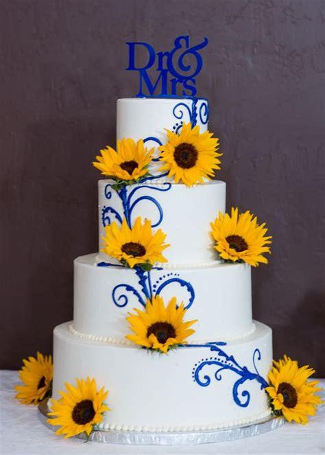 royal blue yellow colour scheme wedding flair