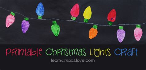 printable christmas lights craft