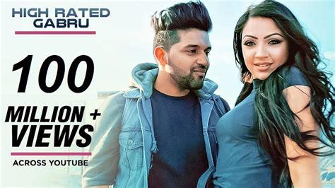 guru randhawa fashion photo guru randhawa s high rated gabru crosses 100 mn views in