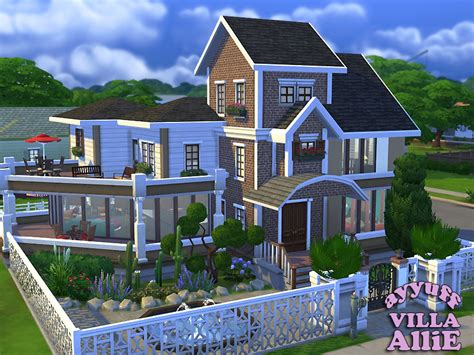 my dreamhouse the sims 4 house building w ayyuff s villa allie furnished