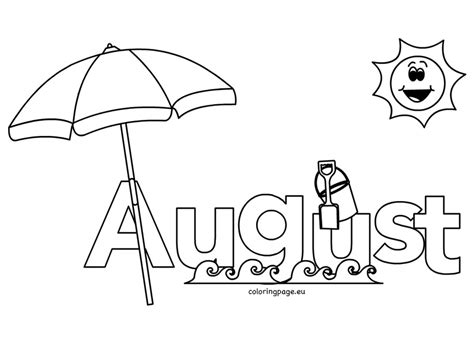 august coloring pages for kids coloring page