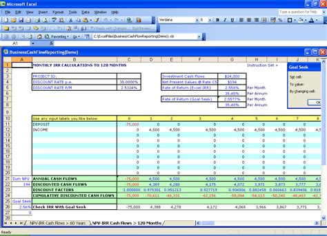 Excel Financial Templates Net Present Value Npv Npv Irr Excel Template