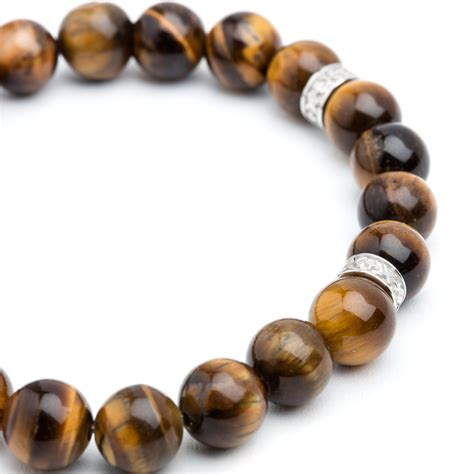 grand tiger eye bracelet silver bv co touch of modern