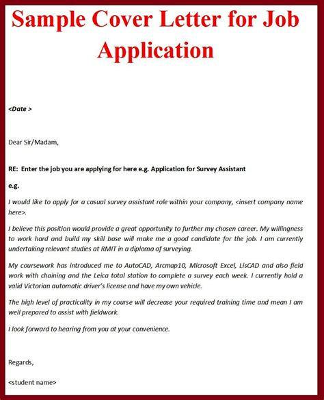 write a covering letter tips for writing a cover letter for a application