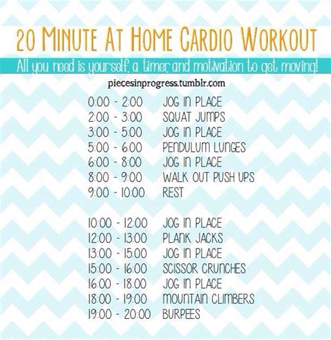 20 minute at home cardio workout work out