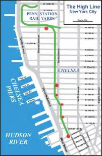 Highline New York Map by Choi S Travel Blog The High Line New York City