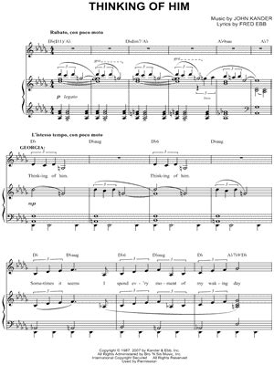 thinking of him curtains quot thinking of him quot from curtains sheet music download