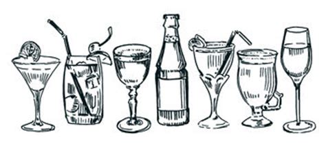 mixed drink clipart black and white black and white cocktails clipart 49
