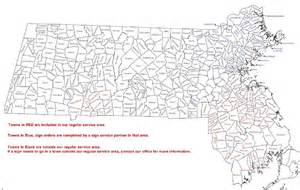 Map Of Massachusetts Cities And Towns by Sugar Mountain Enterprises