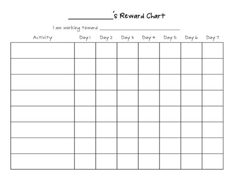 printable star reward chart printable reward chart template activity shelter