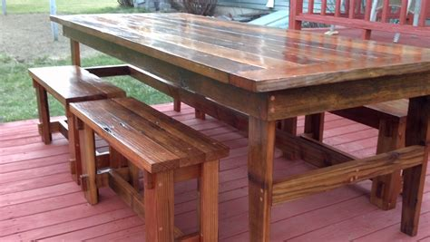 farmhouse table with bench ana white rustic farm table benches diy projects