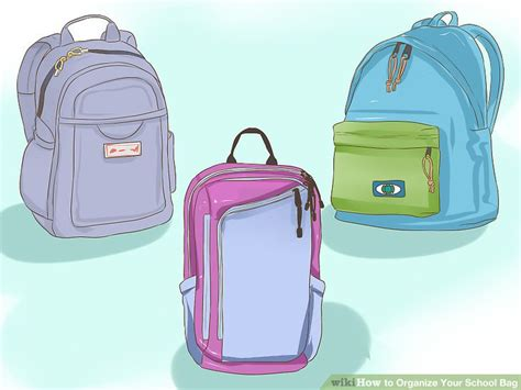 9 Steps To Organize Your Bag by How To Organize Your School Bag 9 Steps With Pictures