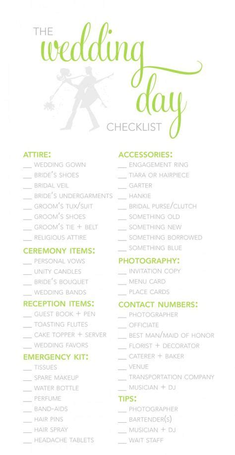 wedding day checklist template 1000 ideas about wedding day checklist on
