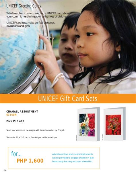 Unicef Gift Cards - unicef ph consumer cards gifts catalog