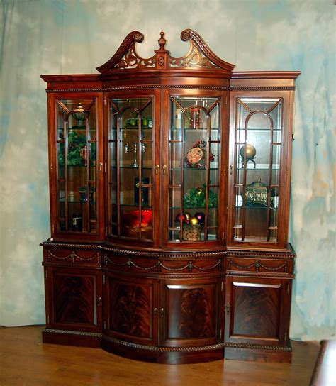Mahogany China Cabinet by Buy Bow Front Mahogany China Cabinet By Mm Signature From