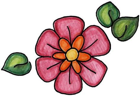 imagenes de mariposas y flores para imprimir dibujo facil de flores imagui