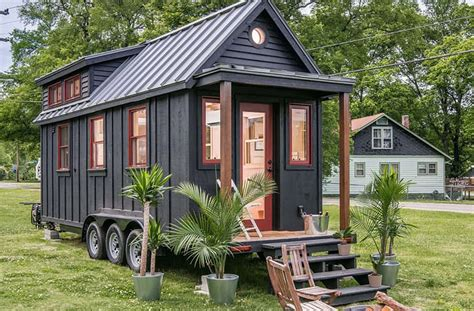 timy homes towable riverside tiny house packs every conventional