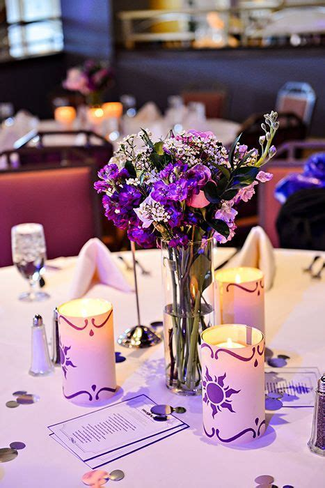 Disney's Tangled inspired candle reception decor   Decor