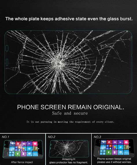 Tempered Glass Nokia Lumia 640 Xl 640xl nillkin amazing h tempered glass screen protector for