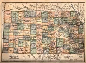 kansas map c 1910