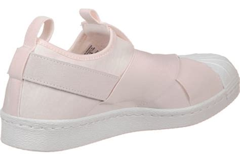 adidas superstar slip on w shoes pink white