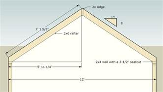 Barn Roof Truss Build Shed Include How To Calculate A Shed Roof Pitch