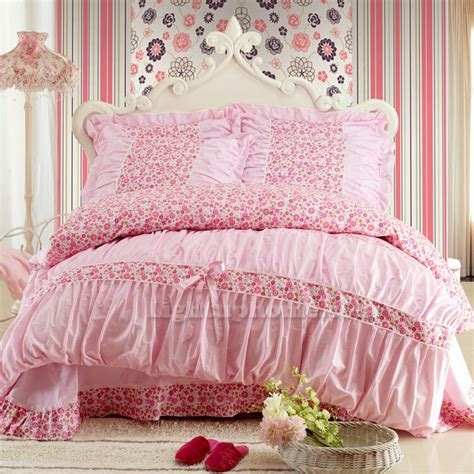 pink bedding set pink white girls lace bedding sets girls bedding sets