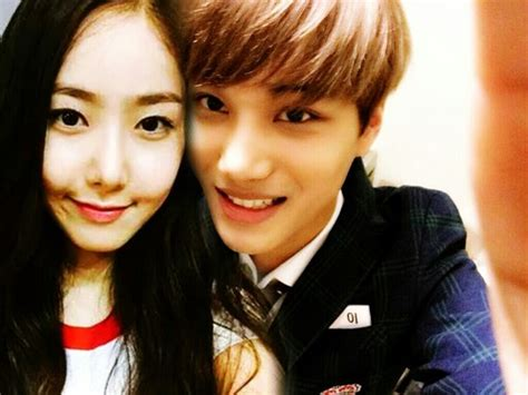 exo gfriend gfriend images sinb and kai wallpaper and background