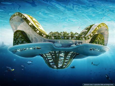 A Floating City lilypad floating city skyscrapercity