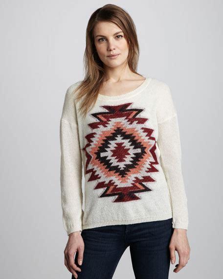 Sewater Go Mu 1516 maison scotch tribal sweater