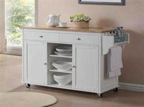 Small Kitchen Carts On Wheels - small kitchen island on wheels in white finish