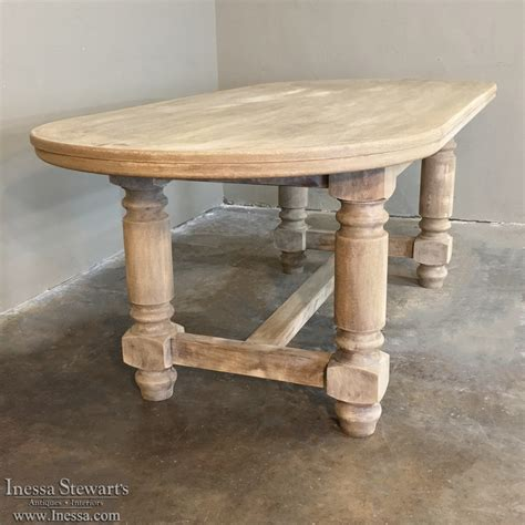 Antique Country French Oval Stripped Oak Dining Table Antique Country Dining Table