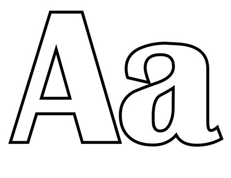 File Classic Alphabet A At Coloring Pages For Kids Boys A Coloring Page