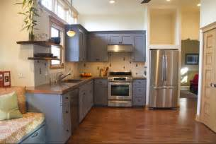 Painted Kitchen Ideas by Gray Kitchen Cabinets Color Ideas