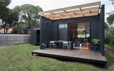 modern shipping container house in australia youtube a small modular home in victoria australia designed by